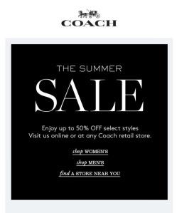 coach sale banner