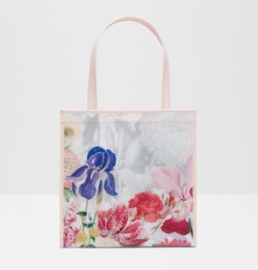 Ted Baker CYCCON Encyclopaedia Floral Small Shopper Bag-Ivory