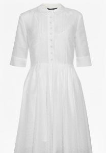 French Connection Dotty Sheer Flared Shirt Dress