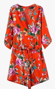Genuine People Floral Romper