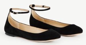 Ann Taylor Breda Suede Black Flats