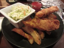 Shuckers Beer-battered Halibut and Chips