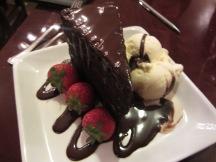 Shuckers chocolate cake