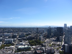 Seattle view from Space Needle