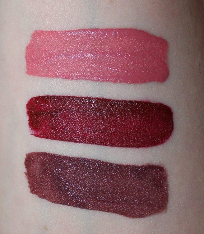 NYX Cosmetics Liquid Suede Cream Lipsticks swatches