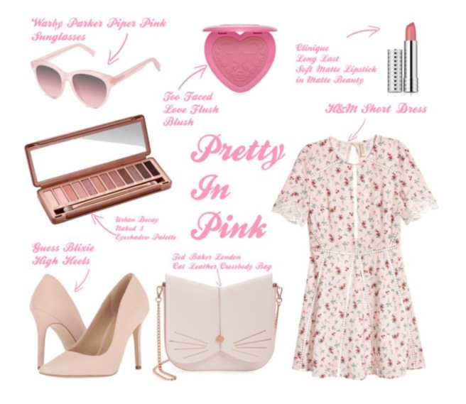Warby Parker Piper Pink Outfit Spread
