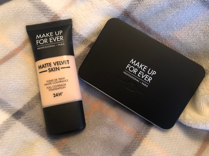 Make Up For Ever Matte Velvet Skin Liquid and Powder Foundations